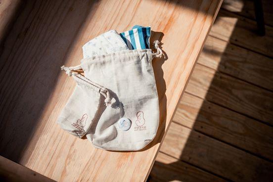 無染手工縫製束口袋